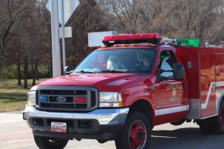 fire truck with Santa